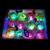 bouncing balls - 5 cm With rope kids toys flash ball visible colorful led crystal bouncing flash Jumping ball mix models