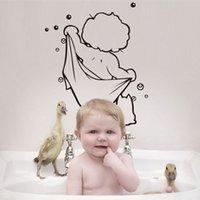 bathtub stickers - Hot Sale Fashion Boy White Removable Waterproof Vinyl Wall Sticker Bathtub Decor Art Drop Shipping HG WS