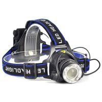 aa battery headlamp - Waterproof Zoomable Cree XML Xm L T6 Led Headlamp Modes Max LM Lumen Bike Head Lamp Headlight Flashlight Torch For x AA Battery