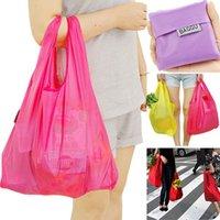 Wholesale 2015 New Baggu Portable Square Pocket Available Environmental Eco friendly Folding Grocery Handle Supermarket Shopping Bags Baggu Saco