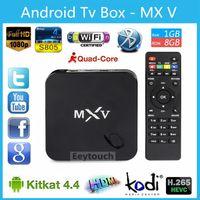 smart tv - 10P MXV Amlogic S805 MX5 Android TV BOX Kodi Quad Core G G Cortex GHZ Android Bluetooth H Smart Media Player
