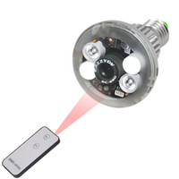 Wholesale HD Bulb CCTV Spy Video Camera Security Hidden Lamp Spy Camera with Remote Control LED Bulb IR Night Vision Camcorder