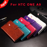 aero photo - Luxury Wallet Leather Case Stand Oil Photo Frame Crazy Horse ID Credit Card Slot Bag Pouch Purse Money For HTC One A9 Aero skin holder cover