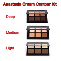 Wholesale New Makeup Face Anasta Contour Cream Kit LIGHT MEDIUM DEEP Colors DHL