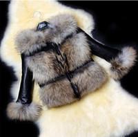 Wholesale winter women fur coats short Fox Fur Raccoon Coat Imitation Sheepskin Covered Leather Fur Jacket color new arrive