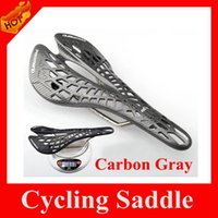 Wholesale Ultralight Carbon Gray Bike Saddles Spider Grid Road Bicycle Saddle Mountain Bike MTB Seat For Outdoor Cycling Sports