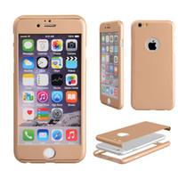 360 Protection complet de l'affaire Whole Cas de téléphone cellulaire Covers 3D Avec écran en verre trempé Protecteur Couleur de protection pour Apple iPhone6 6s 6plus