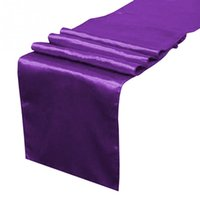 banquet tables sale - Promotional Satin Table Runner Wedding Party Banquet Decoration on Sale Gift