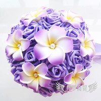 Wholesale Colorful Hand Made Flowers Ball With Eggs Floral Bride Bouquets Gradually Varied Bridesmaid Flower Hold