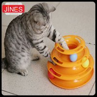 amusement train - Creative Pet Cat Toy Luxury Cat Interactive Training Amusement Plate Trilaminar Crazy Ball Disk Play Activity Game
