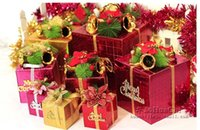 Wholesale 2014 Christmas Promotion New Arrivals Gift Box Apple Package Beautiful Square Shiny Easy Gift Christmas Tree Decorations Boxes SH20141022001