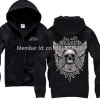 amon amarth shirt - Amon Amarth Cotton Rock band zipper hoodies autumn winter jacket shirt punk death heavy metal Skull fleece men women sweatshirt