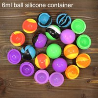 ball swirl - New swirl marble ml ball container non stick silicone oil concentrates jar for wax BHO oil vaporizer silicon Jars Dab Wax Container