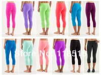 Wholesale ZUM ZB lulu lemon woman yoga Jogging Dance Hip Hop lady fitness capris lululemon wunder under pants leggings yoga capri pants