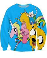 adventure landing - Women Men Cartoon Fashion D Hey Adventure Land Sweatshirts Adventure Time with Finn and Jake Crewneck Sweats Hoodies Pullover