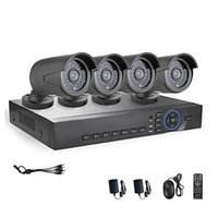 Wholesale 4CH AHD P DVR HVR NVR P MP AHD IP Camera ft Night Vision Weatherproof Security System