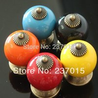 Wholesale New Arrival Europe Ceramic Door Knobs Cabinet Drawer Kitchen Furniture Cupboard Pull Handles