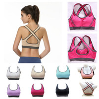 Wholesale New Women Yoga Bra Top Fitness Seamless Racerback Padded Sports Bra Tank Top