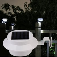 Wholesale YouOKLight White Light LED Solar Powered Fence Light Outdoor Garden Wall Lobby Pathway Lamp Solar Panel Home Decor