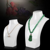 acrylic mannequin - New white Necklace Pendant Chain Link Jewelry Bust Neck Display Holder Stand
