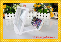Wholesale 3D Enlarged Screen Mobile Phone Video Frequency Amplifier Cellphone Screen Casing for iPhone6 plus Android samsung etc