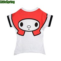 Wholesale New arrival casual baby girls blouses amp shirts cartoon face printed cute short sleeve children s clothing summer style