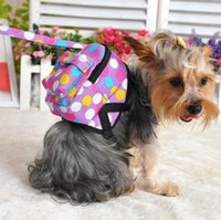 Wholesale NEW Pet Dog Bag Backpack With Leash Cute Pet Dot Outdoor Travel Snack Bag Carrier M Size
