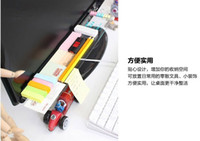 Wholesale Diy computer display storage rack desktop finishing lattice storage box message board