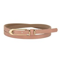 Wholesale Wavors New Fashion Women Girls PU Leather Belt Candy Color Thin Skinny Decorative Belts