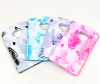 jewelry bags plastic - New Colors X9cm Heart and Butterfly Patterns Plastic Jewelry Gift Bag Jewelry Pouches Bags