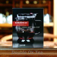 auto press - Brand KAMJOVE ml Press Glass Art Tea Cup Patented New Generation Auto open Flower Teapot Christmas Presents Series TP340