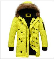 Wholesale Fashion New Mens Cotton padded coats Ful Collar Long Casual Parkas Youth Stylish Outwear Hooded overcoat Piece