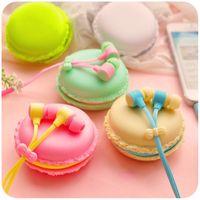 cute mp3 earphone - New Hot Macarons design in ear earphones Headphones Headset For Xiaomi Samsung ipad Cute headphone for MP3 Player