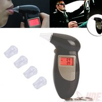 Wholesale Cheap LCD Screen Digital Alcohol Tester Breathalyzer Alcohol Breath Analyzer Audible Alert Breath Key Chain Portable