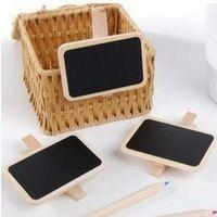Wholesale SET Stationery mini blackboard small clip blackboard