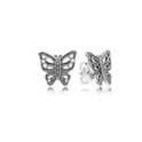 Wholesale 100 Solid Sterling Silver Butterfly Design Earring Suitable for European Pandora Charms Fashion Jewelry