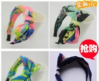 Wholesale Big Butterfly Headband bowknot Hair Jewelry Colorful wide headband flower Hair bands Bows Headwear Hair Accessories For both Girls and Women