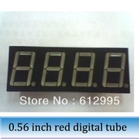 Wholesale 50pcs inch red digital tube bit seven segment led digital tube RED common anode