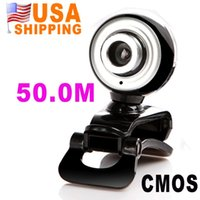 Wholesale US Stock To USA CA Hot Sale USB M PC Camera HD Webcam Camera Web Cam MIC for Computer PC Laptop UPS