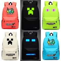 Wholesale Backpacks Minecraft bags Minecraft backpack school bag For Women And Men GAME Birthday Gift Mochila Feminina Cool men bags Backpacks