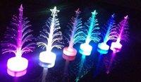 fiber optic flowers - 12cm Christmas tree fiber optic light colorful light emitting the flowers three dimensional christmas tree decoration gift