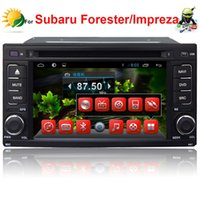 Wholesale 2 din car dvd player for Subaru Forester Impreza android car radio gps navigation TV G WIFI touch screen car audio