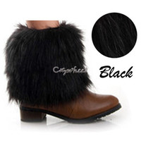 Wholesale Retail cuffs leg warmers x cm boot socks Women s Faux Fur Fashion Ankle Warmer multi colors Leg Shoes Sleeves Cover
