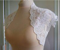 Cheap 2014 New Sexy Stylish Bridal Wedding Jacket Shawl Bolero Wraps Wedding Accessories Lace