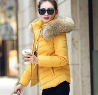 Wholesale womens winter jackets and coats Parkas for women Colors Wadded Jackets warm Outwear With a Hood Large Faux Fur Collar