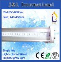 Wholesale FedEX Free W mm T8 LED Plant growth lamp T8 TUBE light SMD2835 ed PC AC85 V