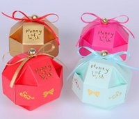 small gift boxes - 2016 new Creative Personality Small Gift Boxes Paper Color Joyful Origami Fitting Wedding Candy Bags