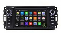 Cheap Android 4.4 Car DVD Player for Jeep Compass Grand Cherokee Wrangler with GPS Navigation Radio TV Bluetooth USB AUX DVR WIFI Stereo