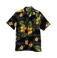 aloha shorts - new arrival Cotton Aloha Shirt Short Sleeved Printed black shirt