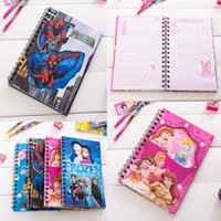 Wholesale School Supplies Paper Products Spiral Notebook Frozen Spiderman cartoon Student diary notebook notepad Mickey coil